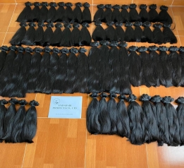 Natural Black Single Donor Hair Bundles Weave Human Hair Extension