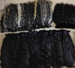 Wholesale Raw Hair Make Equal the Top Remy Real Human Cuticle Aligned Hair Extension