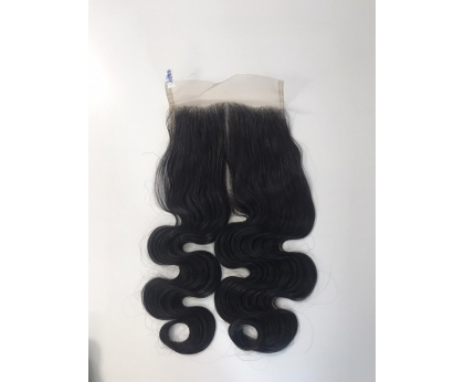 Closure Double Drawn Body Wave 100% human hair