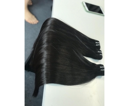 Bone straight Super Double Drawn hair Vietnamese 100% human Hair Best Quality