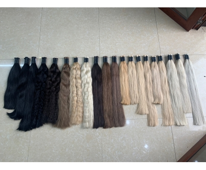 Different length and colors in Bulk Straight Hair Russian Colored Hair 100% Human hair