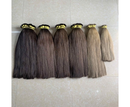 A bit different shades Dark colors Russian hair