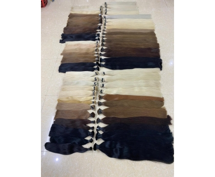 Fresh customers order factory price russian colored bulk hair extension