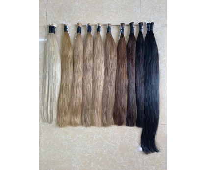 Long slavic hair extension single donor hair cold palette 60cm