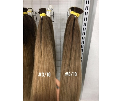 Dark Ombre 3/10 and 6/10 Color Hair Bulk Hair Extension