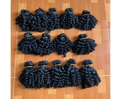Steam Curly Funmi Curly Bundles Weave Human Hair Extension