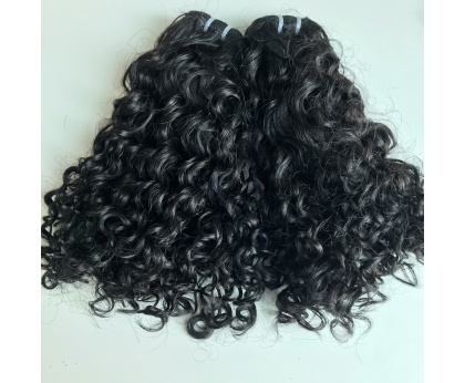Wholesale Double Drawn Pixie Curly 16 inches Vietnamese Human Hair