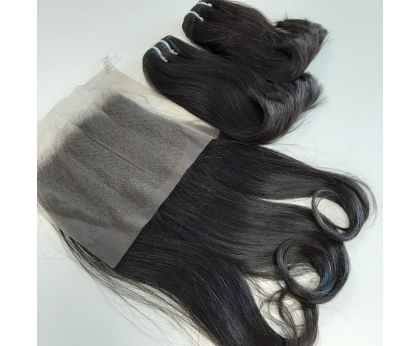 Double Drawn Blunt Tip Bundles Weave Human Hair Extension