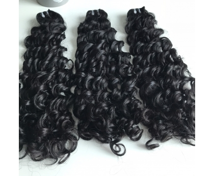 Single Donor Jerry Curly Bundles 100% Virgin Human Hair