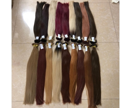 Wholesale Europe Hair Products Pre Bonded Hair Extensions Blonde Color U tip Hair