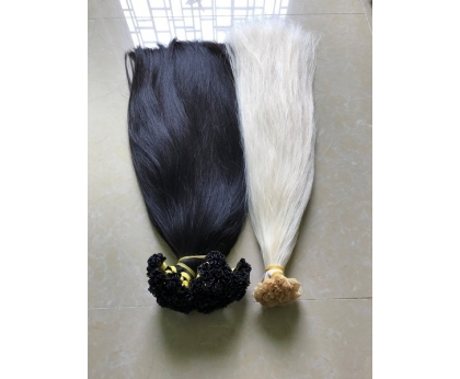 The Nail Tip Keratin Pre Bonded Cheap Hair Extensions Blonde Hair Wholesale Price