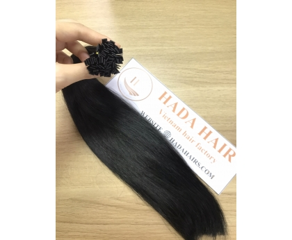 Full Cuticle Aligned Double Drawn Remy Human Hair Flat Tip Hair Extension