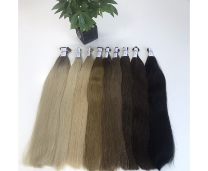 WHOLESALE HIGH QUALITY SUPER DOUBLE DRAWN COLORED BULK HAIR
